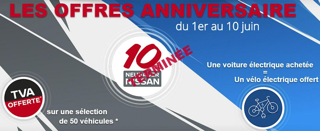 du 1er au 10 juin neubauer nissan f te ses 10 ans neubauer nissan. Black Bedroom Furniture Sets. Home Design Ideas