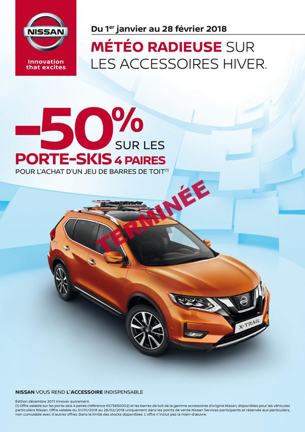 offre promo nissan porte skis barres de toit neubauer nissan. Black Bedroom Furniture Sets. Home Design Ideas